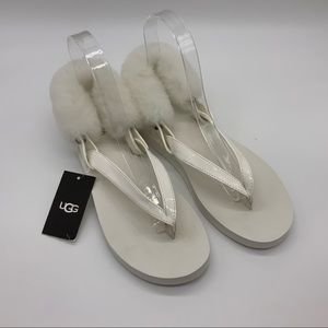 NWT UGG WHITE SANDALS FOR GIRLS
